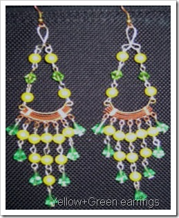 Yellow-green earrings