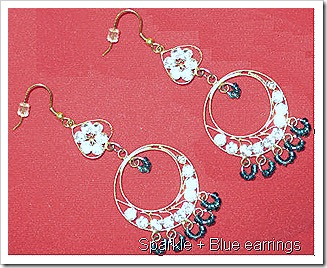 Blue Sparkle earrings_2