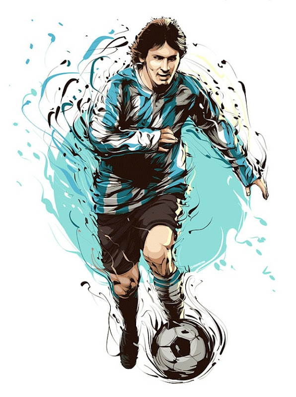Vector Illustration of Lionel Andrés Messi, Argentine footballer