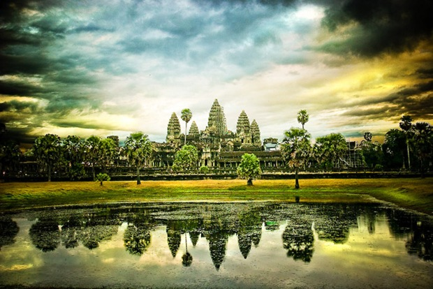 Photography of Temple of Angkor Wat in Green Landscdape 