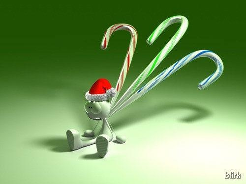 3d Rabbit Christmas Wallpaper