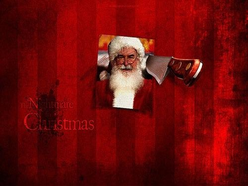 Red Grunge Christmas Wallpaper