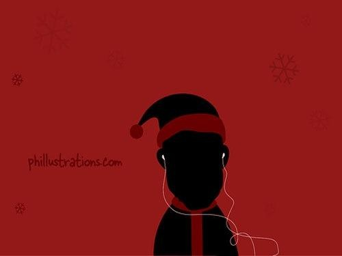 Christmas and ipod Wallpaper