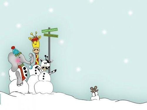 Happy Holiday Winter Wallpaper