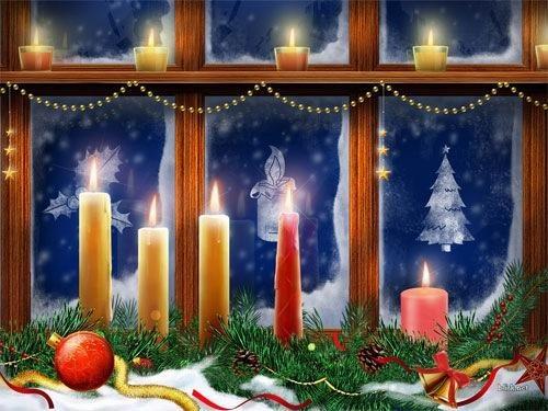 Christmas Candles Desktop Wallpaper