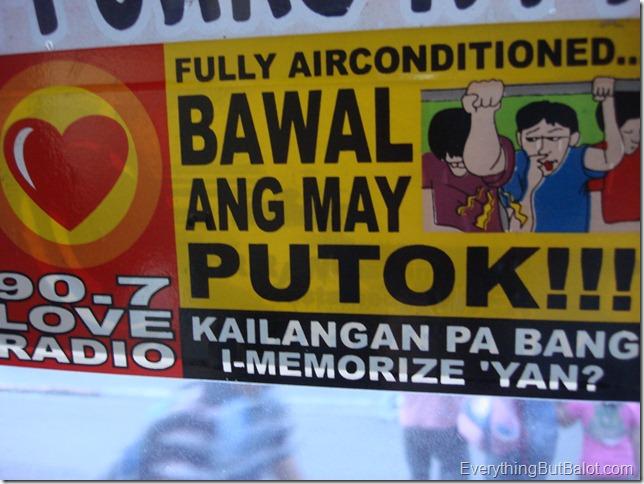 Bawal ang may putok!!!