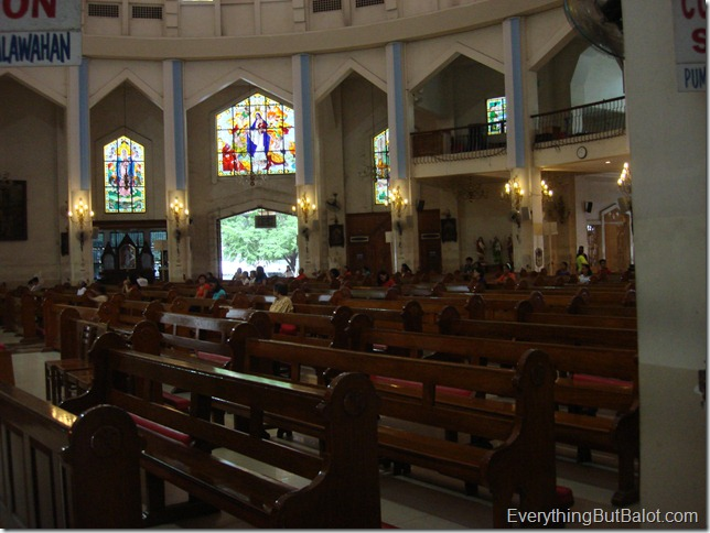 Parishioners at Antipolo Cathedral
