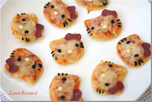 Hello Kitty Pizza Bites