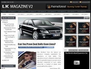 imagem LK Magazine v2 modelo de site para blogspot