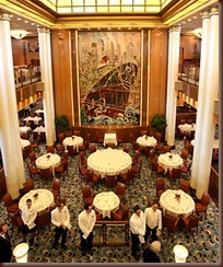 Photo: Jason Oxenham/Auckland Suburbans. Britannia Resturant on the Queen Mary II