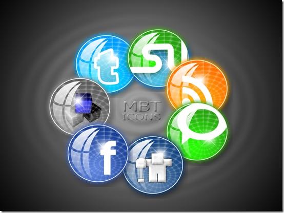 Circular Style Social Media Icons