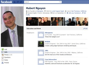 facebook-profile page
