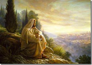 Jézus bánkódik Jeruzsálem miatt