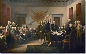 USA Függetlenségi nyilatkozat aláírása