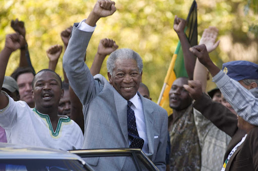 Morgan Freeman as Nelson Mandela in Invictus