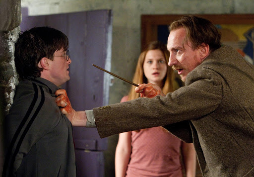 David Thewlis as Remus Lupin and Daniel Radcliffe in Harry Potter and the Deathly Hallows Part I