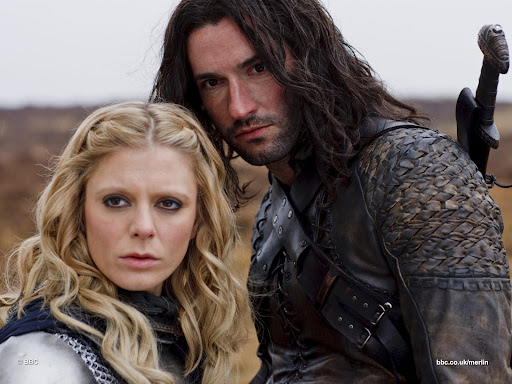 Emilia Fox is Morgause and Tom Ellis is Kind Cenred