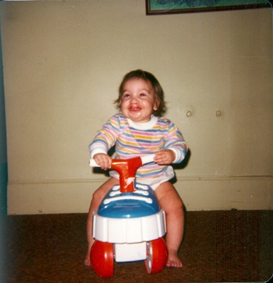 Liz riding shoe car
