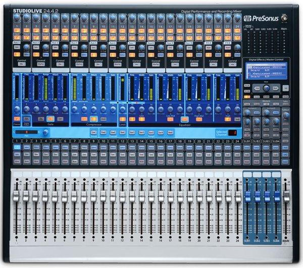 PreSonus StudioLive 24.4.2 digitális mixer/Firewire interfész