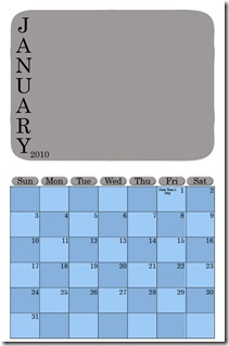 Calendar Template web