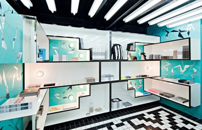 OHWOW-Book-Club-interior design bold color pattern retail