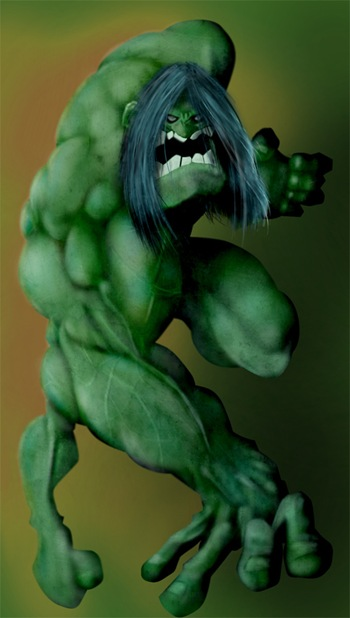 Fan Art de Hulk, por Albert Forcadell