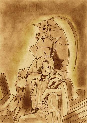 Edward y Alfons, Fan Art de Fullmetal Alchemist por Hiroki