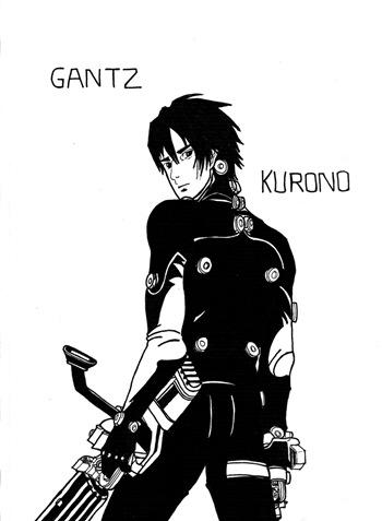 Kurono, Fan Art de GANTZ por Andreu H.C.