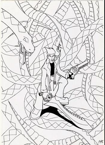 Ortega, creación y dibujo de Shadow