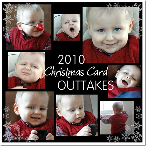 2010 Christmas Card Outtakes