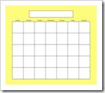 Blank Calendar - Yellow