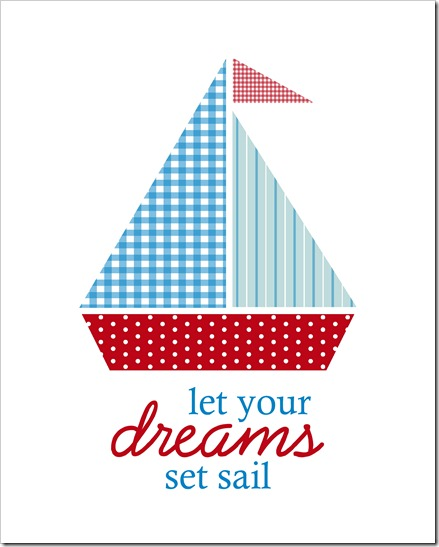 Just Because 30 - Let your dreams set sail - 8x10 - Sprik Space