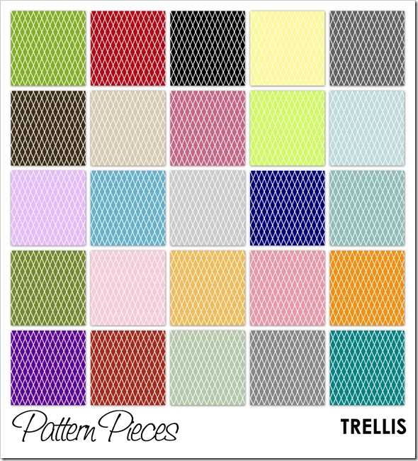 IMAGE - Pattern Pieces - Trellis