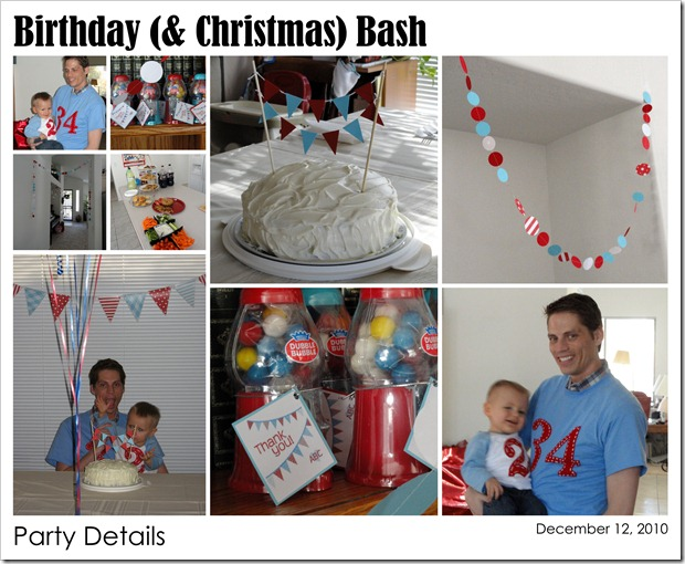 Birthday (& Christmas) Bash - Party Details - 12.12.10