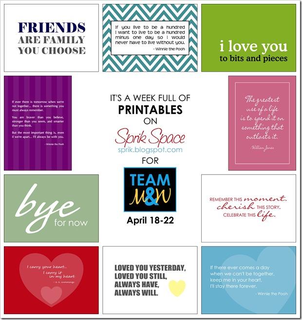 printables week