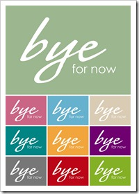 10 image - bye for now