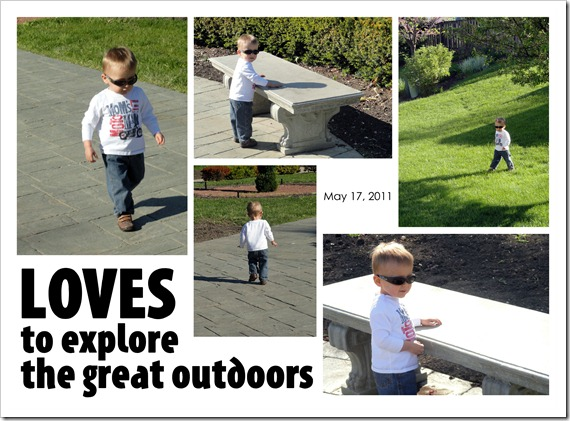 Loves to explore the great outdoors - May 17, 2011
