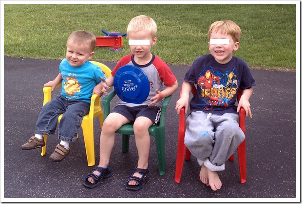 Connor & his buddies - May 19, 2011