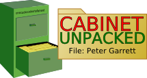 Cabinet Unpacked :: Peter Garrett