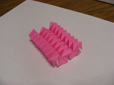 Deep origami accordion top