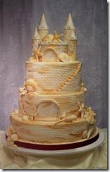 Sandcastle Beach Wedding Cake