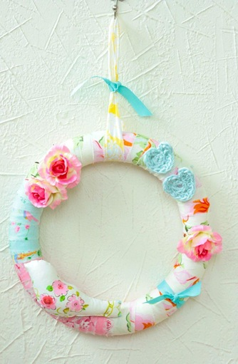 spring wreath casapink
