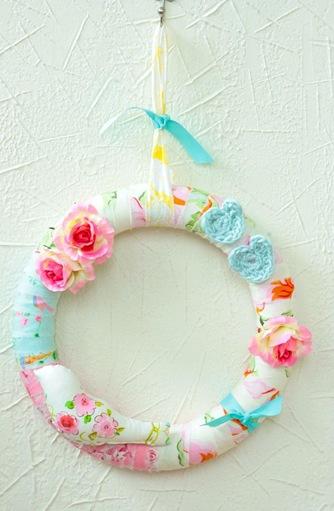 spring wreath casapink