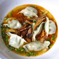 Steamed Dumplings With Shiitake Mushrooms in Sichuan Soup