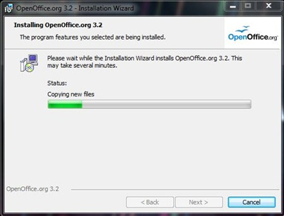 OpenOffice.org Writer - Installation