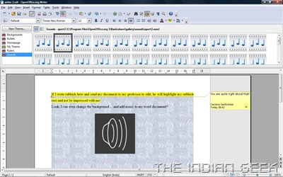 OpenOffice.org Writer - Inserting audio
