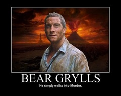 Bear Grylls Simply Walks Into Mordor