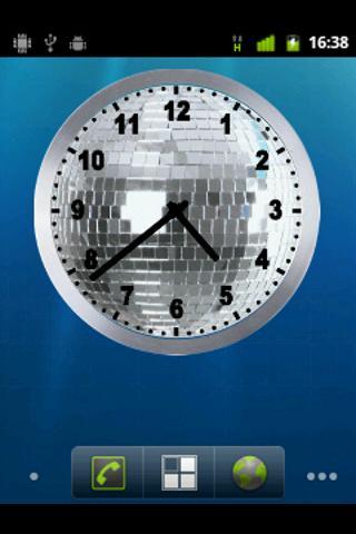 Discoball analog clock