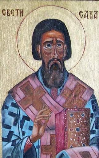 Dusan A. Stanic - Sveti Sava. Dusan A..Stanic-Slike-Ulje Slike i ikone-Ulje