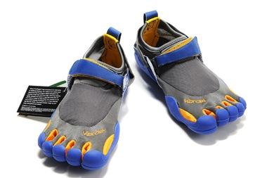 Vibram Five Fingers KSO Grey-Blue Men Shoes_01